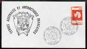 French Southern & Antarctic Territories 1971 10th Antarctic Treaty 75f (SG 71) on cover with commemorative first day cancel