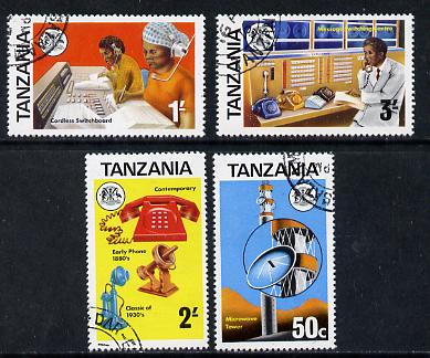 Tanzania 1976 Telecommunications cto set of 4, SG 177-80*
