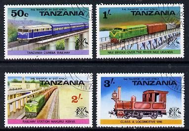 Tanzania 1976 Railways cto set of 4, SG 187-90*