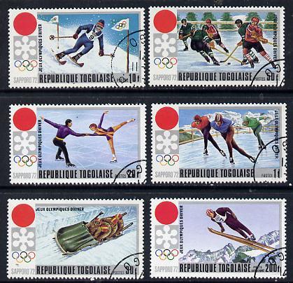Togo 1971 Winter Olympics cto set of 6, SG 839-44*
