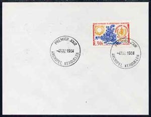 French Southern & Antarctic Territories 1968 World Health Organisation 30f on cover with first day of issue cancel, SG 49