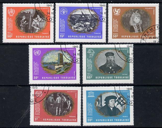 Togo 1970 United Nations cto set of 7, SG 770-76*