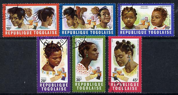 Togo 1970 Hairstyles cto set of 6, SG 721-26*