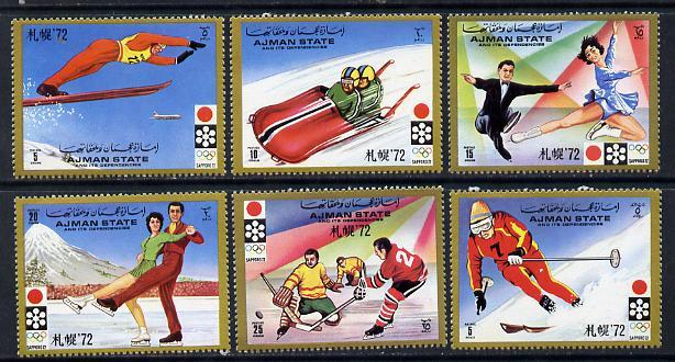 Ajman 1971 Sapporo Winter Olympics perf set of 6 unmounted mint, Mi 1230-35A