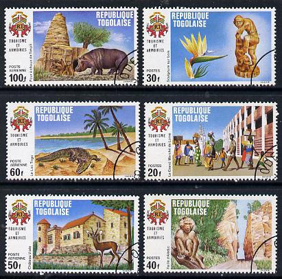 Togo 1971 Tourism perf set of 6 fine cto used, SG 821-26*