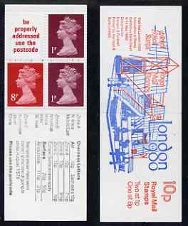 Booklet - Great Britain 1979-80 London 1980 10p booklet complete including 'diagonal scratch' on 1p, R2/2, SG spec UMFB11e
