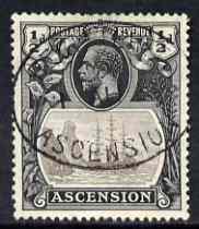 Ascension 1924-33 KG5 Badge 1/2d grey-black & grey fine used SG10
