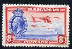 Bahamas 1935 KG5 Flamingos 8d fine mounted mint SG145