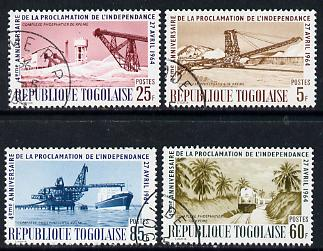 Togo 1964 Independence set of 4 cto used, SG 373-76*