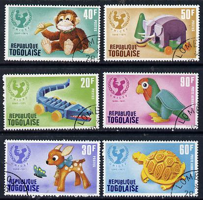 Togo 1971 UNICEF set of 6 cto used, SG 848-53*