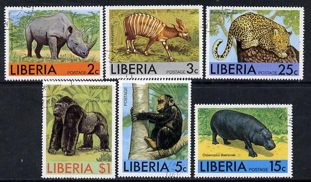 Liberia 1976 Animals set of 6 cto used, SG 1290-95