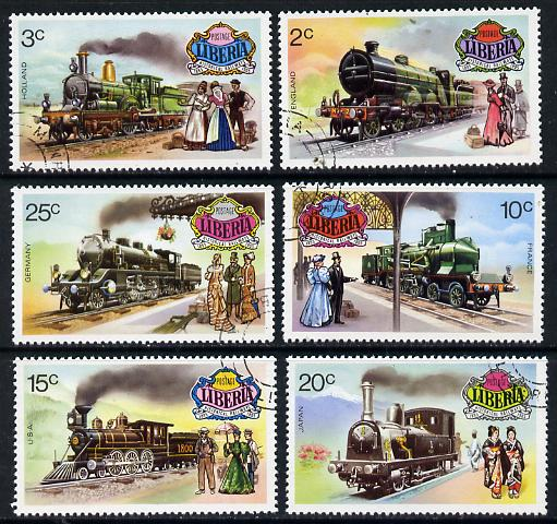 Liberia 1973 World Railways set of 6 cto used, SG 1149-54*