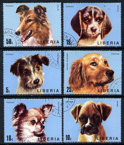 Liberia 1974 Dogs set of 6 cto used, SG 1194-99*