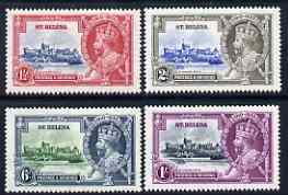St Helena 1935 KG5 Silver Jubilee set of 4 mounted mint, SG124-27