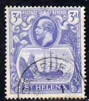 St Helena 1922-37 KG5 Badge Script 3d used SG101