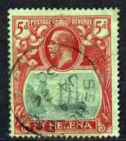 St Helena 1922-37 KG5 Badge Script 5d used SG103