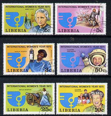 Liberia 1978 International Women's Year set of 6 cto used, SG 1226-31*