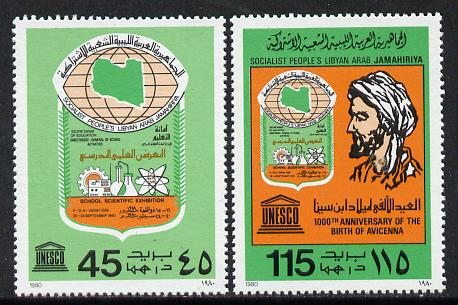 Libya 1980 Scientific Exn - Birth of Avicenna (Philosopher) perf set of 2 unmounted mint, SG 1025-6*