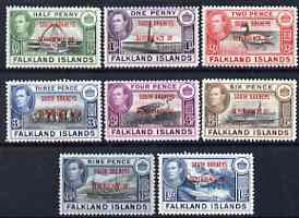 Falkland Islands Dependencies - South Orkneys 1944 KG6 opt'd set of 8 mounted mint, SG C1-8