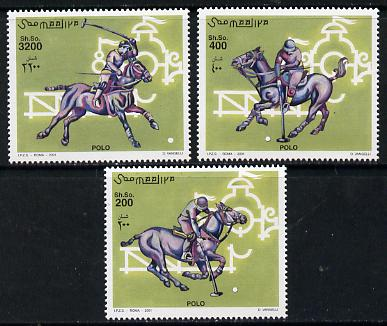 Somalia 2001 Polo perf set of 3 unmounted mint. Note this item is privately produced and is offered purely on its thematic appeal Michel 920-22