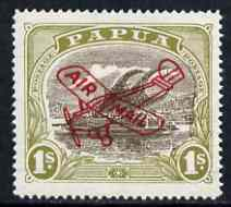Papua 1930 Air Mail 1s mounted mint, SG120