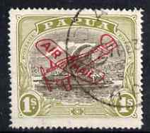Papua 1930 Air Mail 1s used, SG120