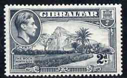 Gibraltar 1938-51 KG6 2d grey P14 watermark upright mounted mint SG124
