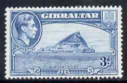 Gibraltar 1938-51 KG6 3d light blue P13 unmounted mint SG125b