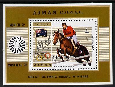 Ajman 1971 Olympics (Show Jumping 1956) m/sheet unmounted mint (Mi BL 327A)