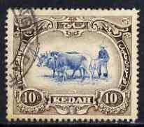 Malaya - Kedah 1912 Ploughing 10c MCA used SG6