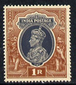 India 1937-40 KG6 1r unmounted mint SG 259*