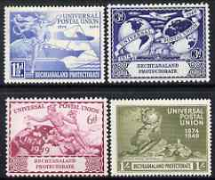 Bechuanaland 1949 KG6 75th Anniversary of Universal Postal Union set of 4 mounted mint, SG138-41