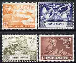 Cayman Islands 1949 KG6 75th Anniversary of Universal Postal Union set of 4 mounted mint, SG131-34