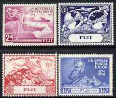 Fiji 1949 KG6 75th Anniversary of Universal Postal Union set of 4 mounted mint, SG 272-75