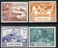 Gold Coast 1949 KG6 75th Anniversary of Universal Postal Union set of 4 mounted mint, SG149-52