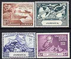 Jamaica 1949 KG6 75th Anniversary of Universal Postal Union set of 4 mounted mint, SG145-48