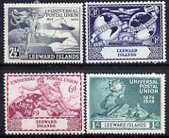 Leeward Islands 1949 KG6 75th Anniversary of Universal Postal Union set of 4 mounted mint, SG 119-22