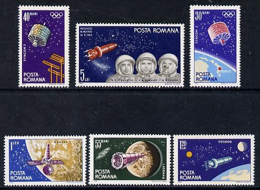 Rumania 1965 Space Navigation set of 6 unmounted mint, SG 3237-42, Mi 2369-74*
