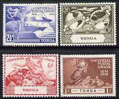Tonga 1949 KG6 75th Anniversary of Universal Postal Union set of 4 mounted mint, SG 88-91