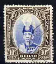 Malaya - Kedah 1937 Sultan 10c used SG60