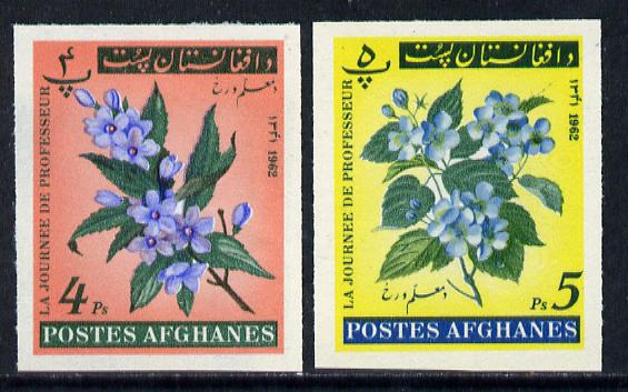 Afghanistan 1961 Teachers Day (Flowers) 4p & 5p imperf *