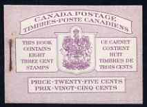 Booklet - Canada 1950 KG6 Booklet 25c purple bi-lingual cover usual rusting around staple SG SB44a