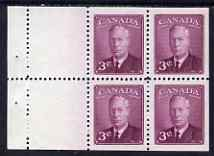 Booklet - Canada 1949-51 KG6 43c purple Booklet pane of 4 plus 2 labels unmounted mint SG416a