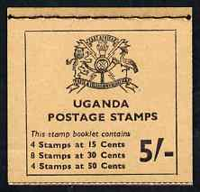 Booklet - Uganda 1965 Booklet 5s (Birds) buff cover SG SB3