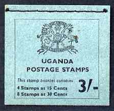 Booklet - Uganda 1965 Booklet 3s (Birds) blue cover SG SB2