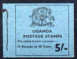 Booklet - Uganda 1975 Booklet 5s blue cover SG SB8