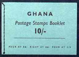 Booklet - Ghana 1961 Booklet 10s green cover SG SB4