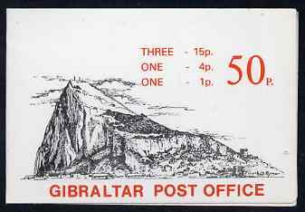 Booklet - Gibraltar 1981 Booklet 50p black & red cover SG SB6