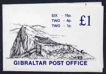 Booklet - Gibraltar 1981 Booklet �1 black & blue cover SG SB7