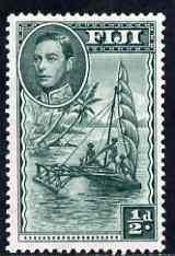 Fiji 1938-55 KG6 1/2d native Sailing Canoe P13.5 mounted mint SG 249